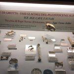La teca con esposte alcuni reperti rinvenuti nella Tecchia di Equi Terme