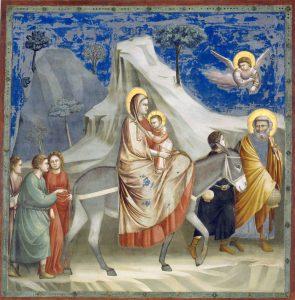 Giotto: Fuga in Egitto. Cappella degli Scrovegni, Padova.