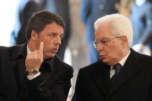 Mattonella e Renzi