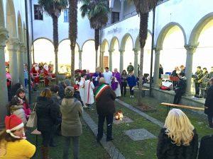 """Inaugurazione del """"Centro Fratello Sole"""" nel chiostro di San Francesco a Villafranca"""