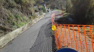 Frana nella strada che porta a Caugliano e Mazzola.