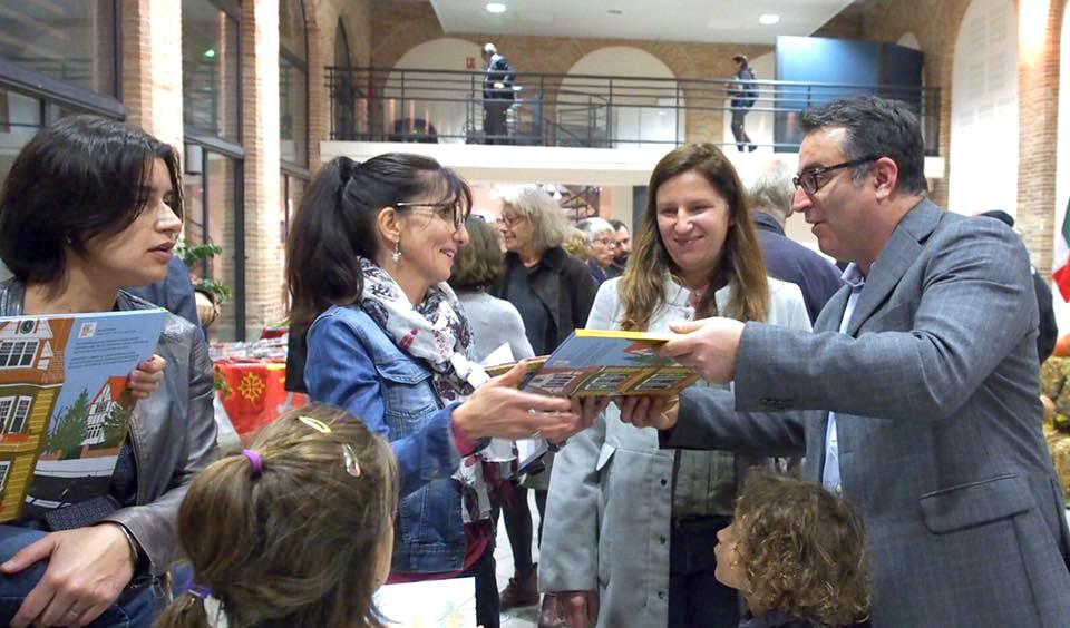Un momento del gemellaggio, con il sindaco Claudio Novoa, tra Mulazzo e Puylaurens