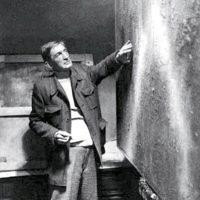 Esposizione di un pannello pittorico di Carlo Guenzi