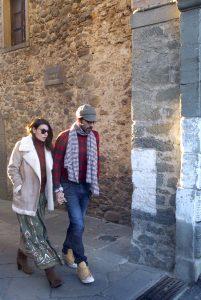 Gigi Buffon a Filetto insieme Ilaria D'Amico