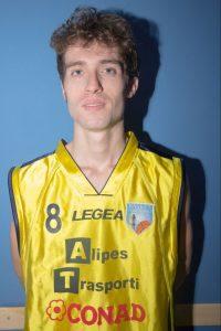 Il play della Pontremolese Basket Nicolò Laporini