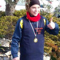 Melissa Sarti della Pol. Pontremolese campionessa regionale CSI 2017 di corsa campestre