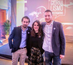 Leonardo Filippi (primo a sinistra) con Maria Panariello e Maurizio Franco