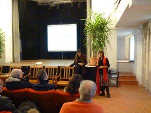 La dottoressa Della Ragione con Rosanna Vallelonga, direttrice della Società della Salute