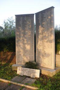 Le lapidi che ricordano le vittime delle stragi di Valla in San Terenzo Monti nella valle del Bardine a Fivizzano