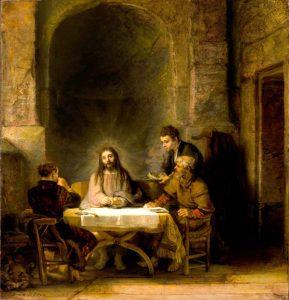 Rembrandt les pelerins d'Emmaüs