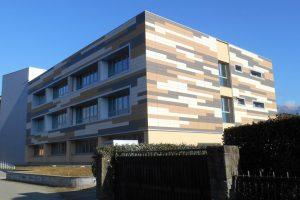 """La facciata del nuovo liceo scientifico """"da Vinci"""" a Villafranca"""