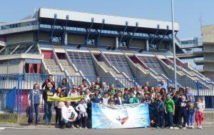 2017, i ragazzi del minibasket di Pontremoli in visita al forum di Assago di Milano