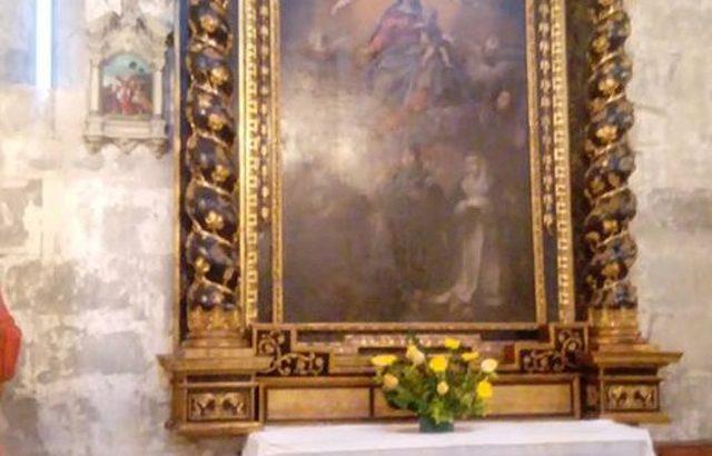 La sorte dell'altare del convento del Carmelo di Codiponte