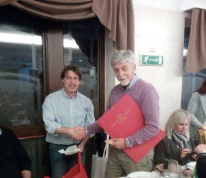 "Il vice presidente dei ""Fratrs"" di Pontremoli Francesco Bonelli, assieme al presidente provinciale ""Avis"" di Rieti, Giuseppe Zelli"