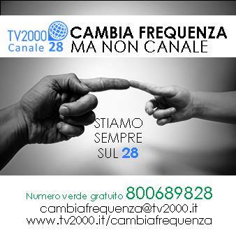 Banner - TV2000 cambia frequenza