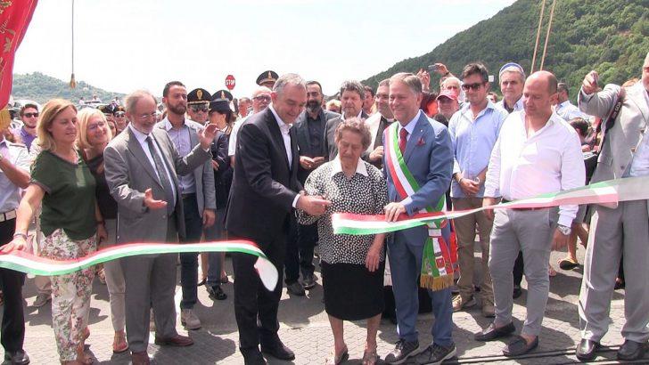 Aulla: inaugurati il primo lotto del centro scolastico e il ponte di Stadano