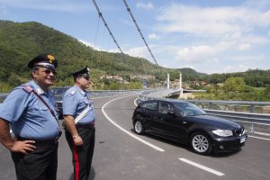 L'arrivo di Rossi al nuovo ponte di Stadano (foto Massimo Pasquali)
