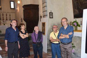 Un momento dell'inaugurazione della mostra a Bagnone