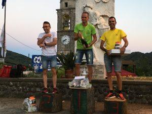 Il podio maschile a Montereggio