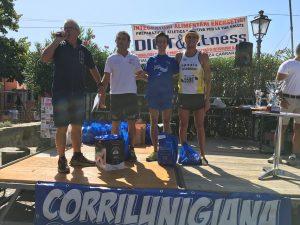 Il podio maschile a Castelnuovo