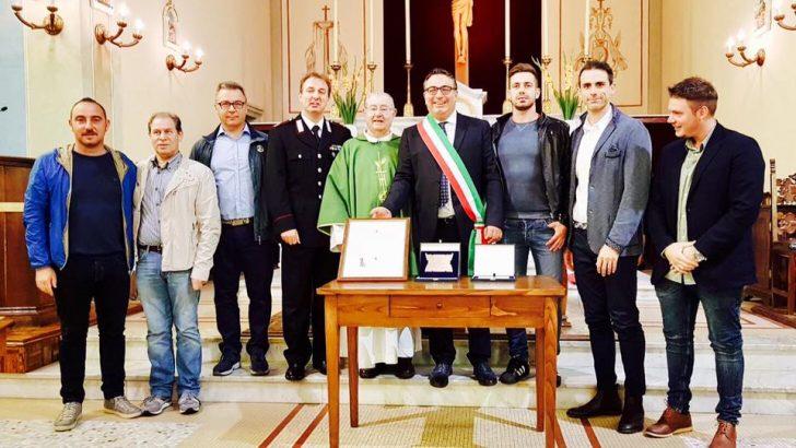 Il saluto dell' Arpiola al Carabiniere Maresciallo Carlo Padova
