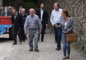 Arrivo a San Terenzo della delegazione di Engelsbrand (foto Massimo Pasquali)
