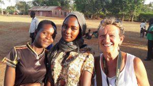 Giusi Maggioni, a destra, in Uganda
