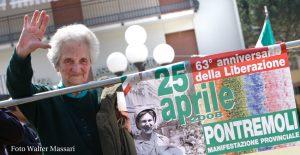 Laura Seghettini ad una manifestazione per celebrare il 25 Aprile