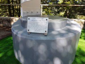 Il monumento dedicato a Simoncelli