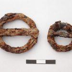 Fibbie in ferro ad anello circolare provenienti da tombe sconvolte