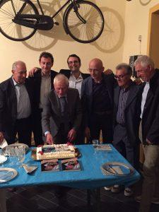 Tanti campioni del ciclismo festeggiano Severino Angella