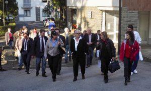 L'arrivo dell'assessore Saccardi all'ospedale di Fivizzano (foto Massimo Pasquali)