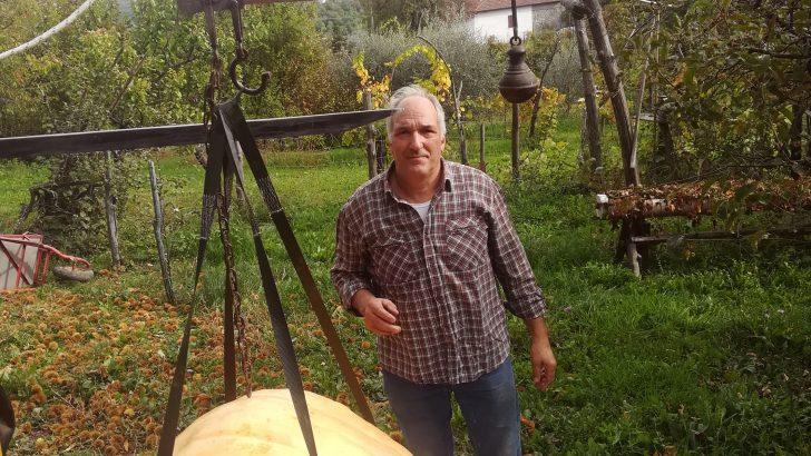 La zucca da record del torranese Marco Fantoni