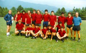 Il Torino 1983, allenato da Eugenio Bersellini, in ritiro a Pontremoli