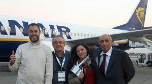 La delegazione della nostra diocesi alla Settimana Sociale di Cagliari; da sinistra: don Piero Albanesi, Almo Puntoni, Giorgia Tartaglia, Fausto Vannucci