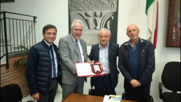 Eugenio Giani in visita ufficiale a Casola