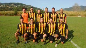Una formazione del Filvilla. La squadra ha fatto suo il derby di giornata con la vittoria contro il Monzone.