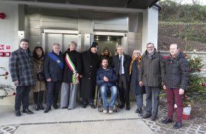 Inaugurazione ascensore per il Piagnaro - la Stazione di arrivo al castello