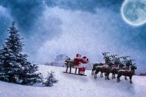 Babbo Natale e le sue renne