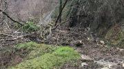 La Lunigiana flagellata da pioggia battente e forte vento