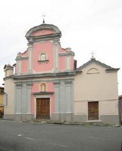 """La facciata della chiesa di S. Martino ad Albiano Magra. Qui si terrà la seconda tappa del ciclo """"L'avventura senza fine: poeti di oggi"""""""