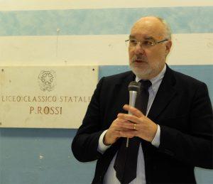 Il prof. Emanuele Rossi, prorettore della Scuola Superiore S. Anna di Pisa