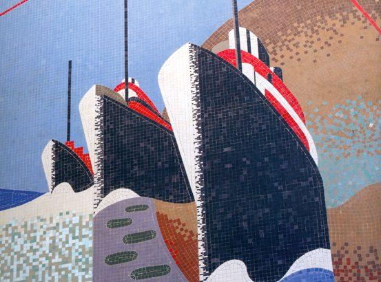 I mosaici futuristi del palazzo delle Poste alla Spezia