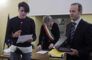 La consegna della Benemerenza al figlio Gian Nicola Bisciotti  (foto Massimo Pasquali)