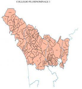 Il collegio plurinominale della Camera che comprende le province di Massa Carrara, Lucca, Pistoia e Prato.