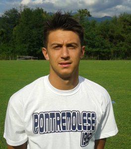 Giacomo Filippi, il centrocampista della Pontremolese ha realizzato l'illusorio vantaggio della squadra di mister Ruvo prima di venire raggiunta e poi superata per il definitivo tre ad uno per il Pietrasanta.