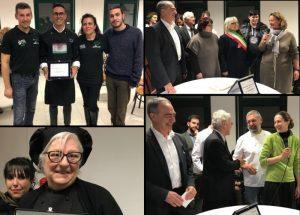 Collage di foto con le premiazioni del concorso culinario