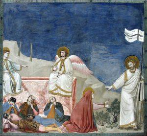 Giotto, Resurrezione e Noli me tangere (1303-1305). Padova, Cappella degli Scrovegni.