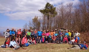 Foto di gruppo dell'Associazione Mangia Trekking