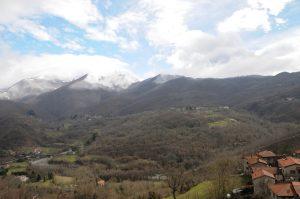 Panorama della Valdantena dall'abitato di Cargalla